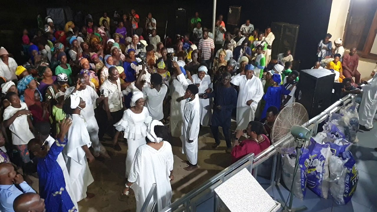 Download Prophetess mary Olubori in her magnificent style dances to the tunes of the Adegbodu twins pt 2