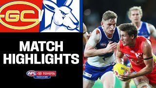 Ziebell's 200th   Gold Coast v North Melbourne Highlights   Round 12, 2019   AFL