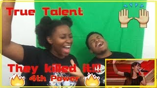 Couple react to 4th Power raise the roof with Jessie J hit | Auditions Week 1 | The X Factor UK 2015 - Stafaband