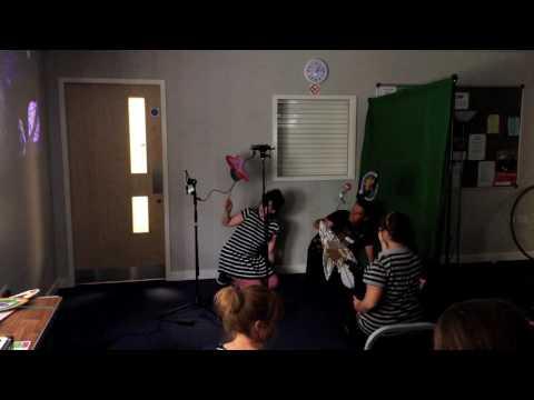 Live greenscreen workshop at DXA summer 2015
