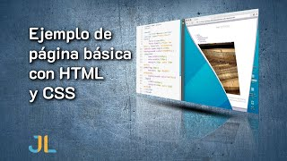 Ejemplo de página básica con HTML y CSS