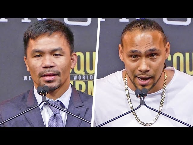 Manny Pacquiao vs. Keith Thurman FULL PRESS CONFERENCE | Fox PBC Boxing