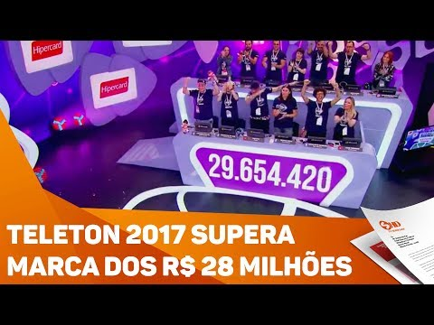 Teleton 2017 supera marca dos R$ 28 milhões - TV SOROCABA/SBT