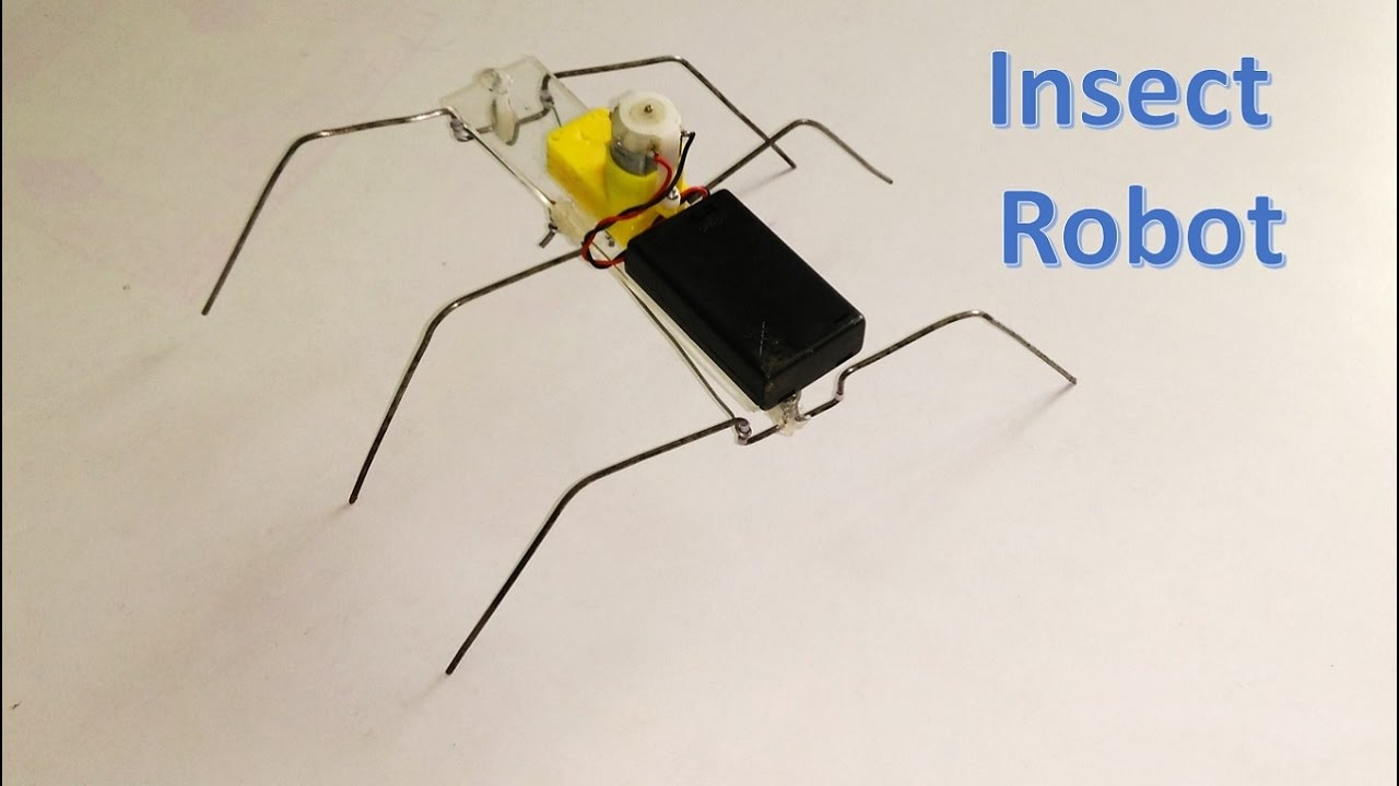 How to make six legged insect robot diy youtube