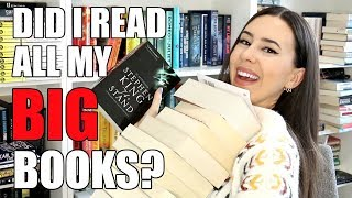 BIG BOOKS READING CHALLENGE WRAP UP 2018 || Books with Emily Fox