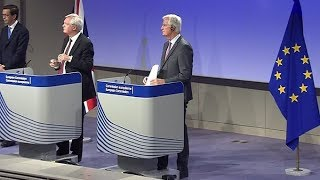 David Davis and Michel Barnier on state of Brexit talks (28 Sep 2017)