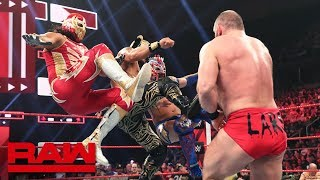 Lucha House Party attack Lars Sullivan Raw, May 20, 2019