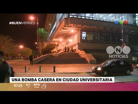 Una bomba casera en Ciudad Universitaria