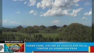 theme park zipline at chocolate hills tampok sa sagbayan peak sa bohol