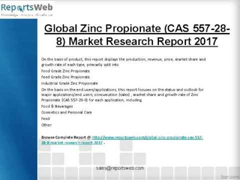 2017-2022 Global Zinc Propionate (CAS 557-28-8) Market Research Study