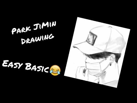 Bts Jimin Easy Drawing Youtube