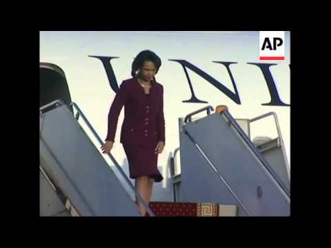 US Secretary of State Rice arrives for visit