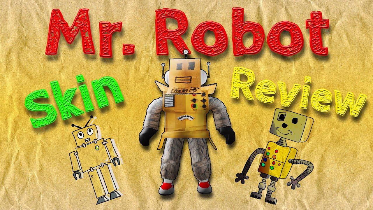 Roblox Cardboard Robot Head Mr Robot Skin Review Youtube