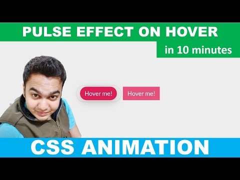 Pulse Effect On Hover Animation Using HTML5 And CSS3 Only | CSS Animation | No JavaScript