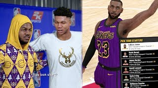 NBA 2k19 MyCAREER - BEST All Star Draft! LeBron Ankle Breaker & 1 Hand Lob! Ep. 24