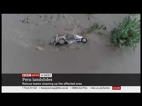 Weather Events 2019 – Landslides after heavy rains (Peru) – BBC News – 10th December 2019