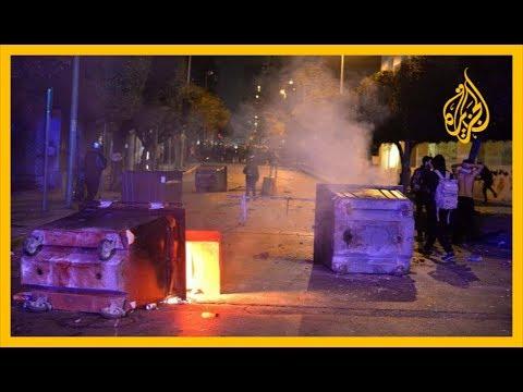 ???? قطع الطرقات وحرق الدواليب احتجاجا على استفحال الأزمة الاقتصادية بلبنان  - 09:59-2020 / 1 / 15