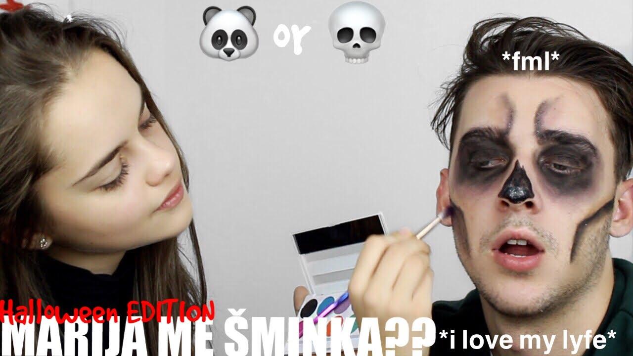 marija ŽeŽelj me Šminka? halloween edition - youtube