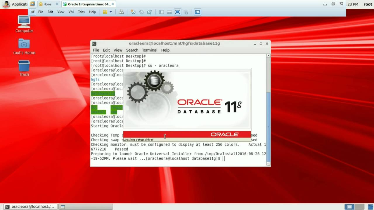 how to install oracle 11g on vmware linux