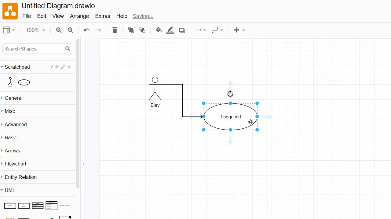 Use Case diagram i draw.io