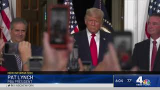 NYC Police Union Endorses President Trump for Re-Election | NBC New York