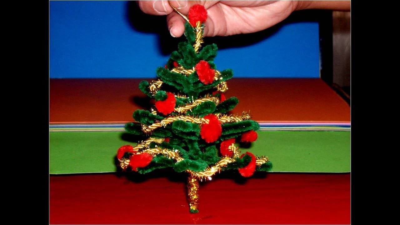 Manualidades navide as rbol colgante miniatura youtube for Colgantes para arbol de navidad