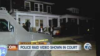 Police raid video shown in court