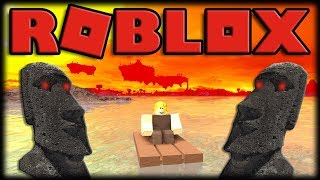 Playing Roblox-BOOGA BOOGA-the Night of blood, mysterious islands and boats Bugados!!