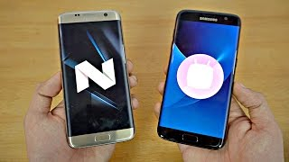 Samsung Galaxy S7 Edge Android 7.0 Nougat vs S7 Edge Android 6.0.1 Marshmallow - Speed Test! (4K)