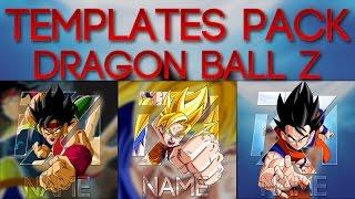 [TEMPLATES] AVATAR/LOGO POP-OUT DRAGON BALL Z PHOTOSHOP (Badock,Goku SSJ,Goku)