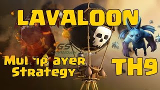 clash of clans | Th9 Lavaloon 2017 | attack strategy for multiplayer Battle |