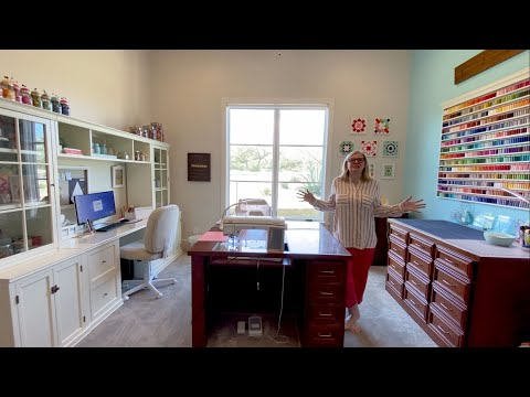 Behind the Seams: Sewing and Quilting Home Studio Tour with Kimberly | Fat Quarter Shop