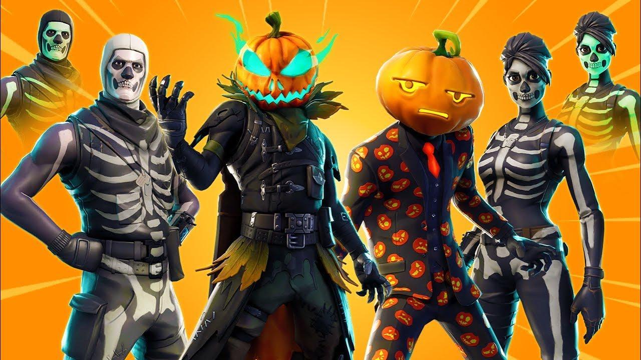 new fortnite leaked halloween skins gameplay showcase skins styles gliders more v6 02 - fortnite leaked halloween skins