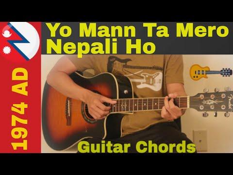 Yo Mann Ta Mero Nepali Ho - 1974 AD Guitar Chords - YouTube