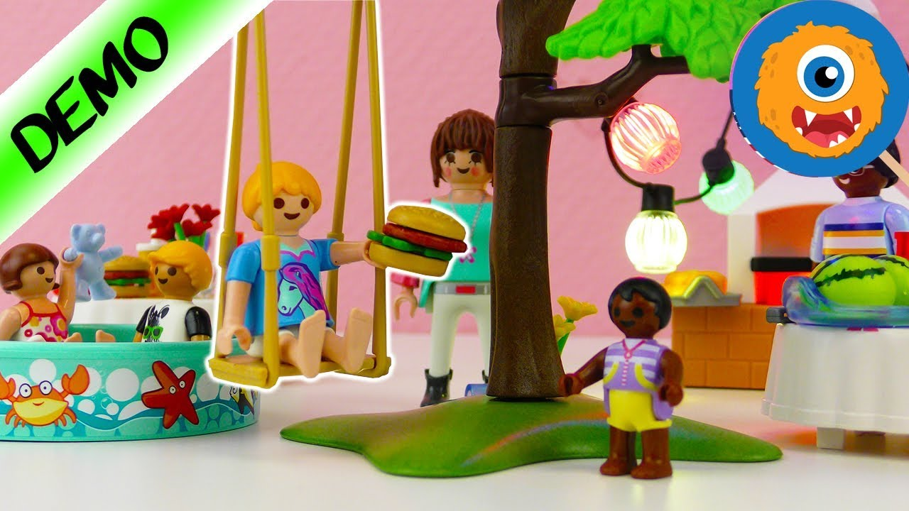 Playmobil house warming party with hannah smith grill - Playmobil swimming pool best price ...