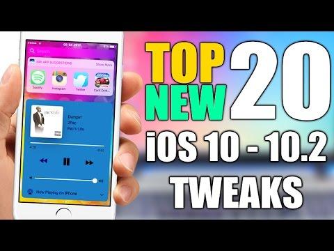 Top 20 NEW iOS 10 - 10.2 Jailbreak Tweaks - 2017