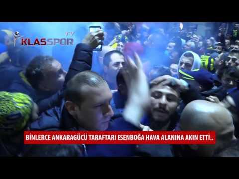 Gümüşhane maçı sonrası Ankaragücü taraftarından görkemli karşılama...