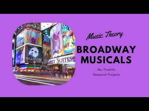 Music Theory Broadway Musicals Research