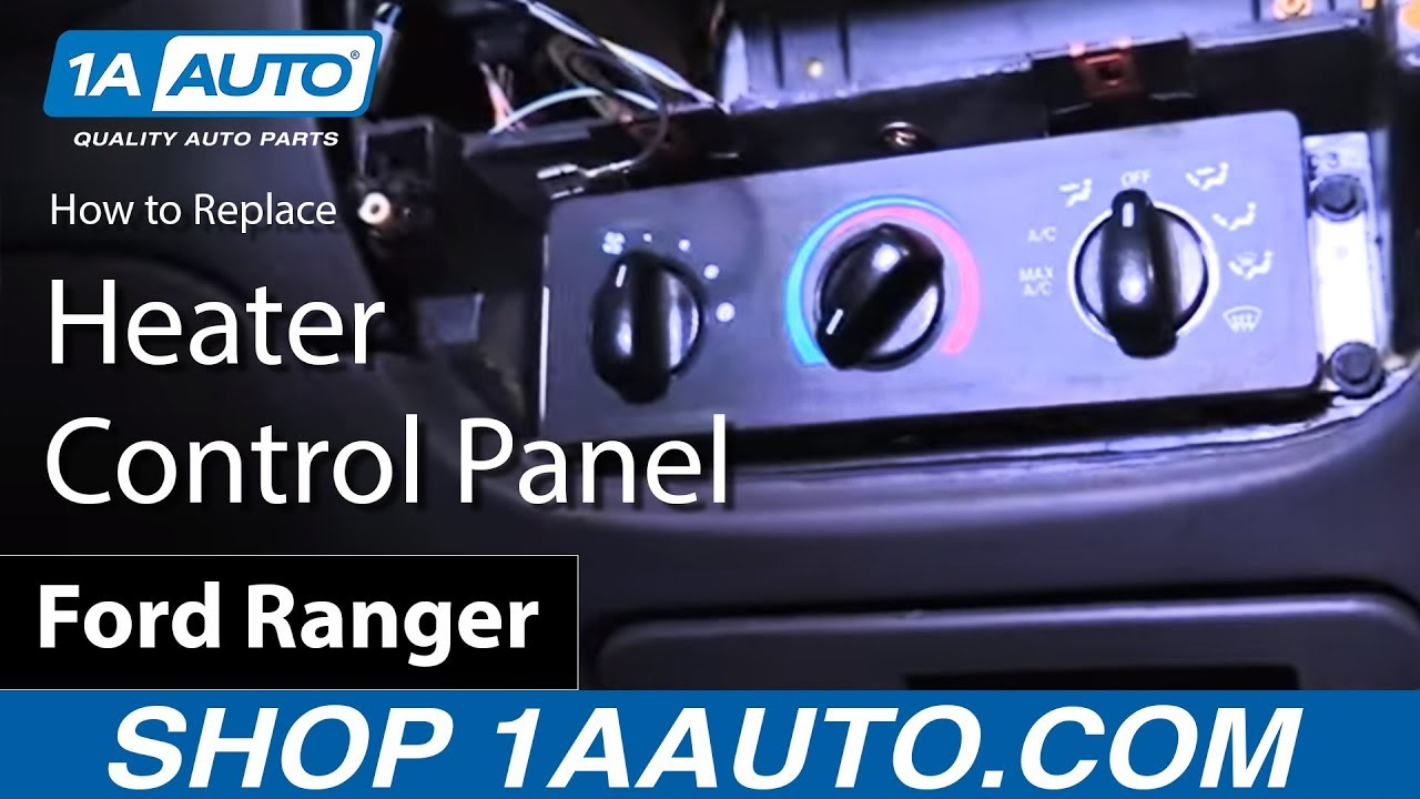 hight resolution of how to install replace heater control panel 2001 ford ranger buy quality auto parts at 1aauto com