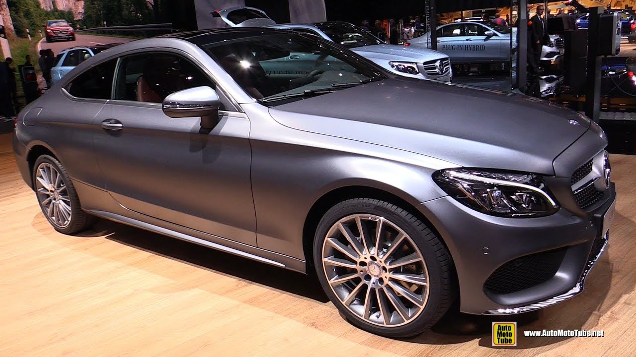 2017 mercedes c200 4matic coupe exterior and interior walkaround 2016 paris motor show youtube. Black Bedroom Furniture Sets. Home Design Ideas