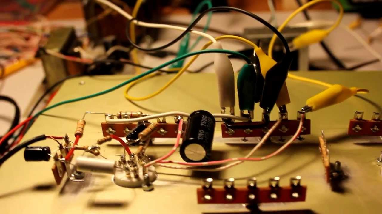 Test amplifier single-ended with ECL82