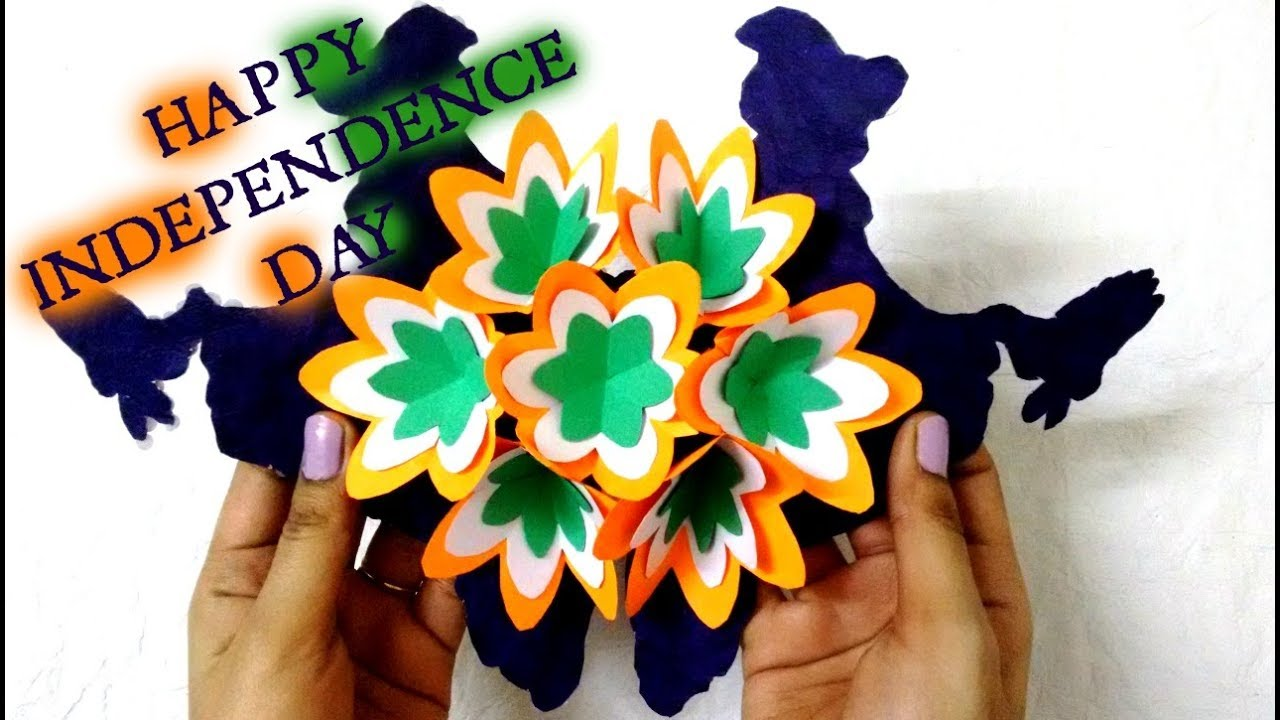Tricolour Pop Up Greeting Card Indian Independence Day Special