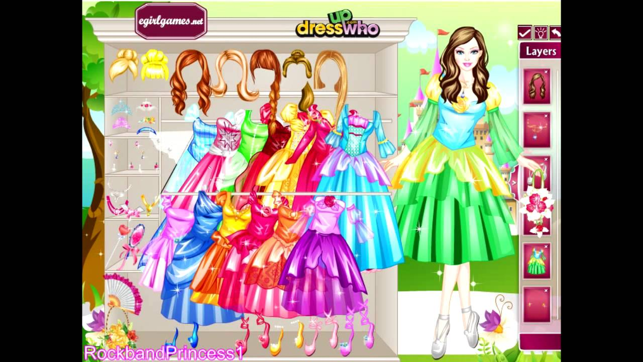 Barbie princess dresses dress up game dress up who youtube sciox Image collections