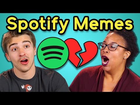 ADULTS REACT TO SPOTIFY PLAYLIST MEMES