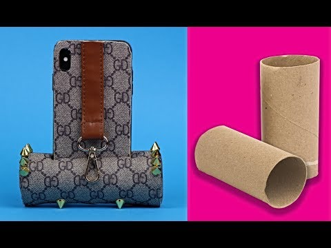 DIY Phone Case Life Hacks!  Phone DIY Projects & Popsocket Crafts! holder phone