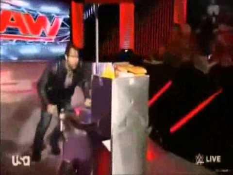 Wwe Dean Ambrose Hot Dog Car Funny Youtube
