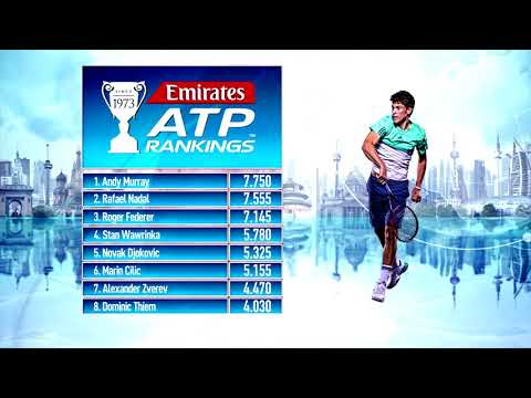 Emirates ATP Rankings Update 14 August 2017