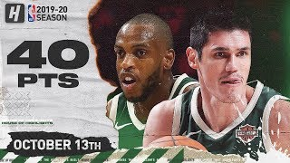 Ersan Ilyasova & Khris Middleton Full Highlights vs Wizards (2019.10.13) - 40 Pts Combined!