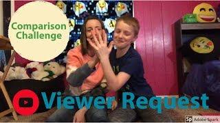 Comparison Challenge MOM AND KAYDEN (Viewer Request)😊