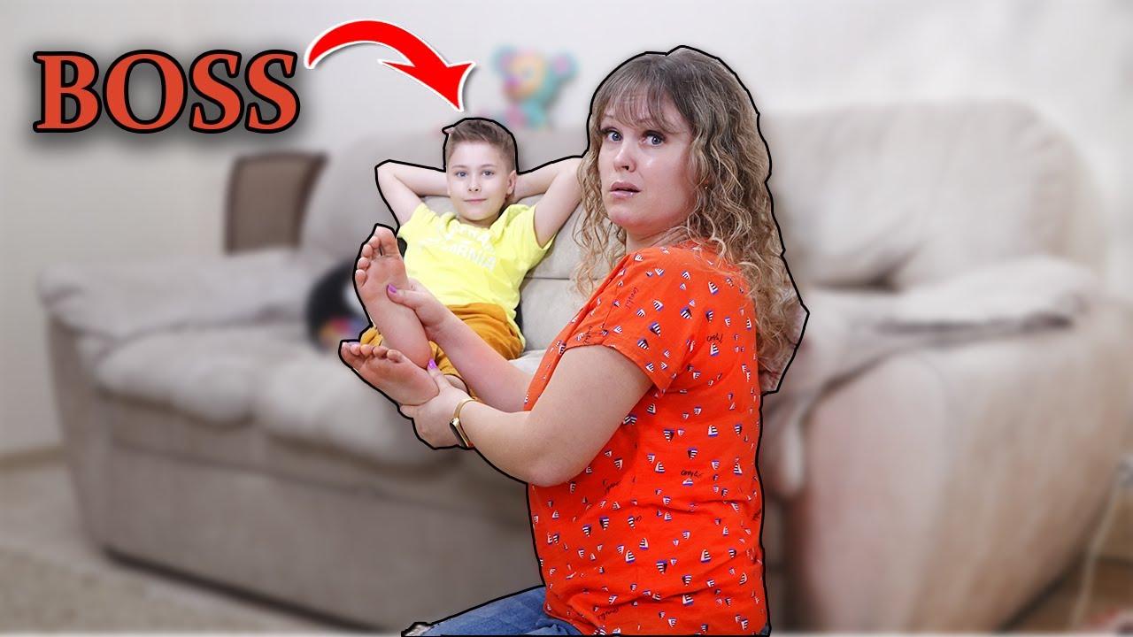 Серёжа BOSS 24 часа !!! Мама не хочет выполнять задания! Челлендж Fast Sergey